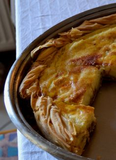 Honey milk pie - a traditional Greek classic !