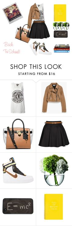 """School, Shoes, & Style"" by wells128 ❤ liked on Polyvore featuring DKNY, Glamorous, Michael Kors, Boohoo, NIKE, LSA International, Theory and Polaroid"