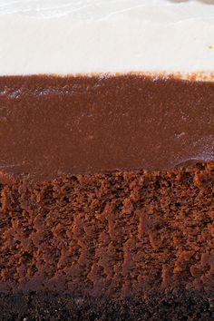 Mississippi Mud Pie - Oreo crust, chocolate cake, chocolate mousse and whipped cream = chocolate layered decadence!