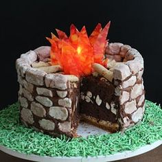 She made a fire pit...OUT OF SMORES.