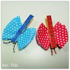Ines Felix - Kreatives zum Nachmachen: Holzklammer-Schmetterlinge aus Muffinförmchen