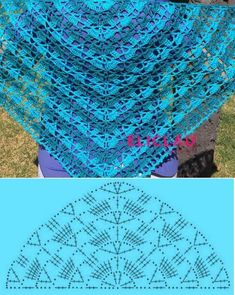 the-southern-beauty-shawl-by-elk-studio - Salvabrani Lovely pattern for crochet scarf Pretty lace shawl and pattern Poncho Crochet, Bonnet Crochet, Crochet Scarves, Crochet Clothes, Crochet Lace, Crochet Diagram, Crochet Chart, Crochet Stitches, Shawl Patterns