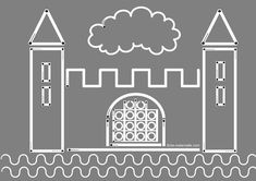 1000 images about fete des rois on pinterest chateaus - Dessin d un chateau fort ...