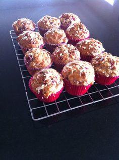 White chocolate and raspberry skinny muffins