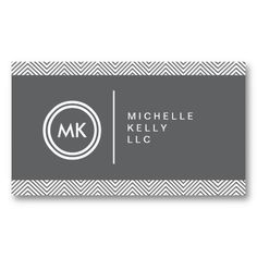 Customizable logo with your initials and business card for writers, bloggers, authors