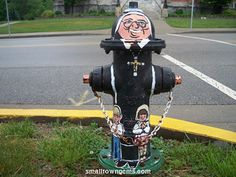 Loved those fire hydrants! - - - - - Photograph of Oldenburg, Indiana decorative painted fire hydrant