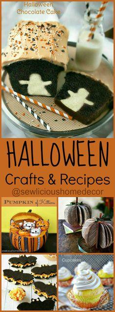 Halloween Crafts and Recipes by sewlicioushomedecor.com