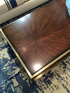 The Horizon Line Rectangle Starburst cocktail table in the Cynthia Rowley for Hooker Furniture Collection. #HPMKT
