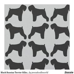 Black Russian Terrier Silhouettes Pattern