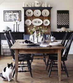 Tudo Sobre Decoracao Dinner RoomBlack ChairsBlack