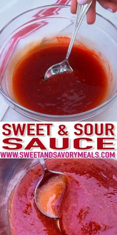 Homemade Sweet and Sour Sauce Recipe [video] - Sweet and Savory Meals Sweet and Sour Sauce is a perfect blend of yin yang flavors! It is great to use on various dishes, as it balances the tanginess of the fruit juice and the sweetness of sugar! Homemade Sweet And Sour Sauce Recipe, Sweet Sauce, Homemade Sauce, Homemade Recipe, Chinese Sweet And Sour Sauce Recipe, Sweet Ans Sour Sauce, Sweet And Sour Shrimp Recipe, Orange Sauce Recipe, Sweet And Sour Recipes