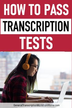 How to pass transcription tests when applying for transcription jobs with transcription companies. Learn how to pass the test and get more transcription work from home. Great for WAHMs & SAHMs. Earn Money From Home, Make Money Fast, Make Money Online, Money Today, Work From Home Opportunities, Work From Home Jobs, At Home Careers, Transcription Jobs From Home, Legitimate Work From Home
