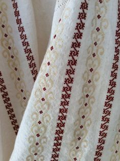 Palestinian Embroidery, Cross Stitch Designs, Diy And Crafts, Gowns, Traditional, Veronica, Embroidered Shirts, Embroidery Stitches, Cross Stitch