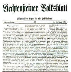 Liechtensteiner Volksblatt - Liechtenstein – Wikipedia