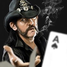 Lemmy Kilmister of the Motörhead. Painting from photo reference I found on Last. Done in Photoshop with default brushes and photo texture for the smoke. Doing this was fun, I'm gonna paint more . Dexter Wallpaper, All The Kardashians, Metallica Black, Heavy Rock, Heavy Metal, Church Music, Ace Of Spades, Photo Texture, Music Pics