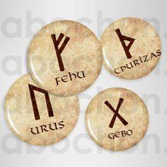 Runes symboles vikings ☆ 60 Images RONDES – Cabochon.fr ® Vikings, Symbole Viking, Image Digital, Alphabet, Images, Creations, Symbols, Drawing Drawing, The Vikings