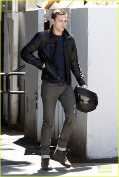Nicholas Hoult -Ooooh; he has a motorcycle. I would love to take a ride with him ;)