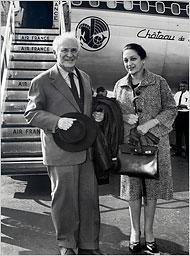 Marc Chagall e Valentina Brodsky, su segunda esposa (Vava)