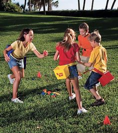 Bucket Blast Game. Looks like a lot of fun for kids outdoors....might have to get this one for summer