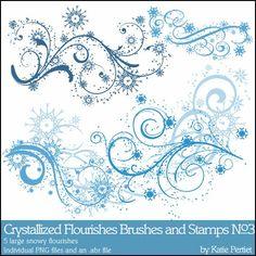 Crystallized Flourishes No. 03 Brushes and Stamps- Katie Pertiet Brushes- DesignerDigitals Winter Tattoo, Bff Tats, Snow Flake Tattoo, S Tattoo, Craft Tutorials, Tattoo Inspiration, Digital Scrapbooking, Snowflakes, Flourishes