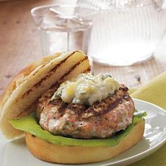 Hamburger Recipes : Chipotle Salmon Burgers