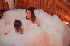 Banho aromático no spa com crianças