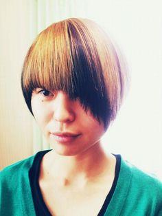 short hair  hair cut   2tone hair color  hitomi.y☆∴°
