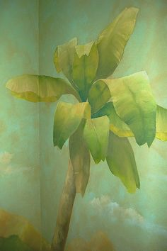 palm tree mural detail by twinpalmsstudio, via Flickr.  Love the softness