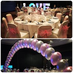 Full venue styling services for this lovely bride including balloons real roses our love sign. Looked so pretty pictures do not do it justice. #nicheevents #nichewedding #nichestylists #all_shots #bride #bridal #brideinspiration #chaircovers #balloonarch
