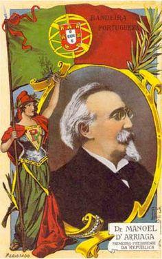 Manuel de Arriaga –cartaz Comemorativo da eleição de Manuel de Arriaga