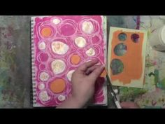 Art Journaling from Carolyn Dube using NEW StencilGirl stencils designed by Traci Bautista.