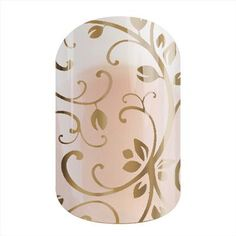Wedding Nails - Gold Floral by Jamberry Nails Layer this over any nail polish, or over bare nails!