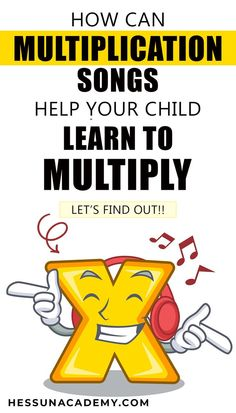 How can multiplication songs help your child learn to multiply? Memorize multiplication tables without flashcards. Multiplication Songs, Math Songs, Math Fractions, Counting Songs, Skip Counting, Fun Math, Math Activities, Maths, Math Games