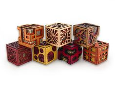 Amazing wooden (laser-cut?) boxes