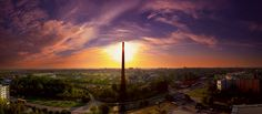 Trnava Sunrise & Panorama I Cn Tower, Sunsets, Sunrise, Celestial, Building, Travel, Outdoor, Outdoors, Viajes