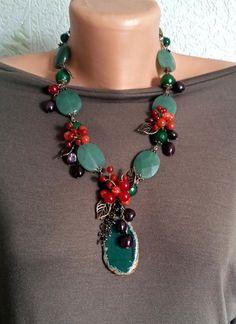 Bead Jewellery, Stone Jewelry, Wire Jewelry, Boho Jewelry, Jewelry Crafts, Jewelry Art, Beaded Jewelry, Jewelery, Handmade Jewelry