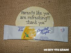 parent volunteer gift - Parents like you are refreshing!