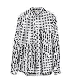 Marni for H & M men's Designer shirt white black size Large L | eBay