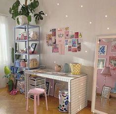 Cute Room Ideas, Cute Room Decor, Room Ideas Bedroom, Bedroom Decor, Bedroom Inspo, Pastel Bedroom, Indie Room, Minimalist Room, Pretty Room