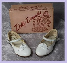 Vintage 30s  Girl Shoes ....Dolly Dimples!