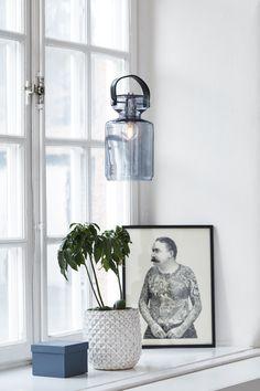 Bottle shaped pendant light made of glass Hygge, Scandi Style, Home Textile, Windows And Doors, Scandinavian Design, Modern Lighting, Contemporary Furniture, Window Design, Spring Trends