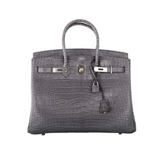 Hermes birkin bag 35cm gris paris (grey) matte croc alligator ph 0eac5a5077967