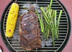 Labor Day steak corn and asparagus [2048x1475] #foodporn #food #foodie #yummy #yum #foodgasm #nomnom #delicious #recipe