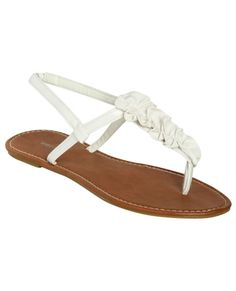 Leatherette Ruffle Sandal from WetSeal ($12.50)