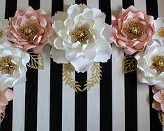 Fondo de flor de papel, flores, flores de papel para el primer cumpleaños, torta foto smash apoyo, Telón de fondo de foto de papel de vivero
