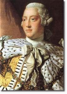 close-up King George III, from Ramsay painting