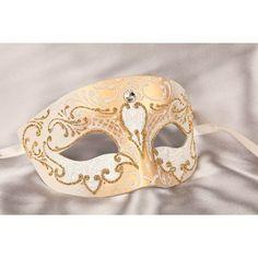 Mans Masquerade Mask - Masquerade Masks for Men - Mans Carnival Masks via Polyvore