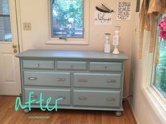 Painting pine furniture after shot. I already pinned the before shot. s                             …