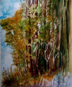 HUTAN. Kalau bikin pohon-pohon besar banyak gini asa jadi ingin ke THR Juanda. Sigana mah disuguhan kopi ku Kang @lianlubiz#art #drawing #painting #watercolor #tree #forest #hijau #green #thrjuanda #bandung #dago