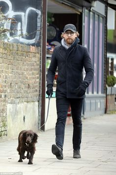 Low-key: Actor Tom Hiddleston, 37, was worlds away from his usual clean cut appearance on ...